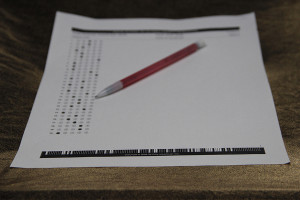 Scantrons such as this one are commonplace materials students use during standardized testing. Photo by Nicholas Alvarez.