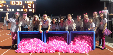The Ranch Hands display the pink chains from the Quarters 4 the Cure fundraiser. Chisholm Trail raised over $850 for the Breast Cancer Awareness Foundation. Photo by Gabriela Rodriguez
