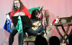 Christine Bickett and Kyra Allen perform at Christmas Coffee House Jan. 12. At this reoccuring fundraiser theatre students sell tickets, baked goods, coffee, and other concessions.Photo by Kiersten Warde.