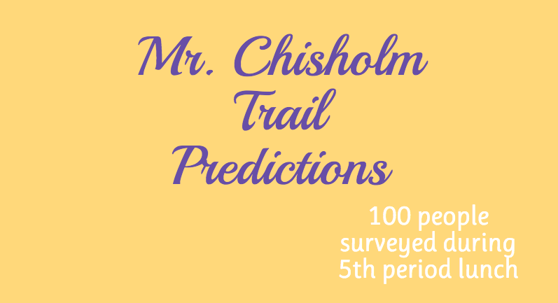 Mr. Chisholm Trail predictions