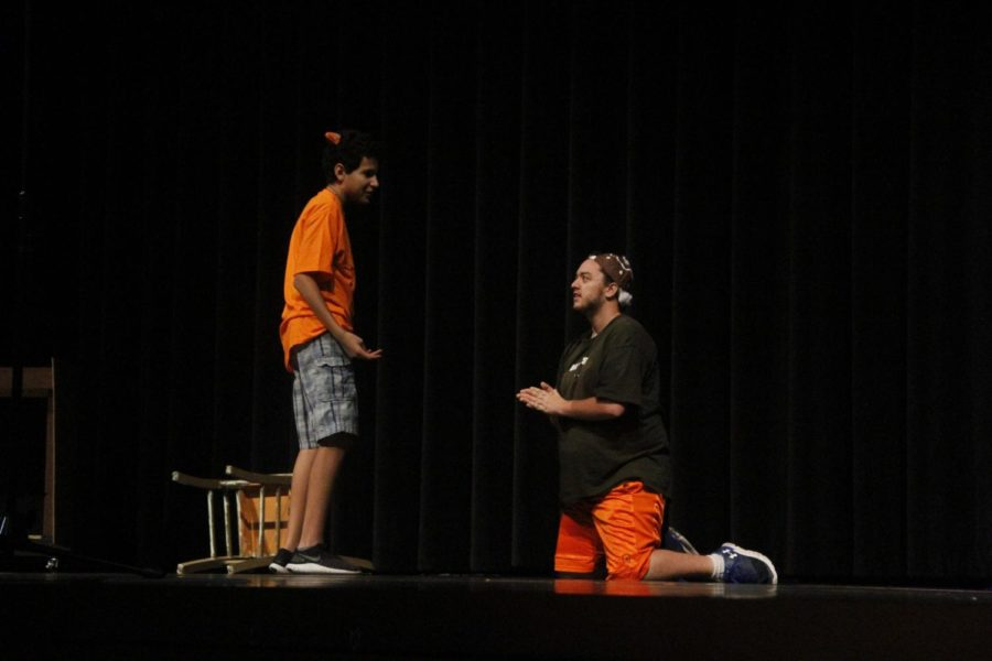 Juan Ortega-Lopez and Jacob Sykes in The Gingerbread Man.