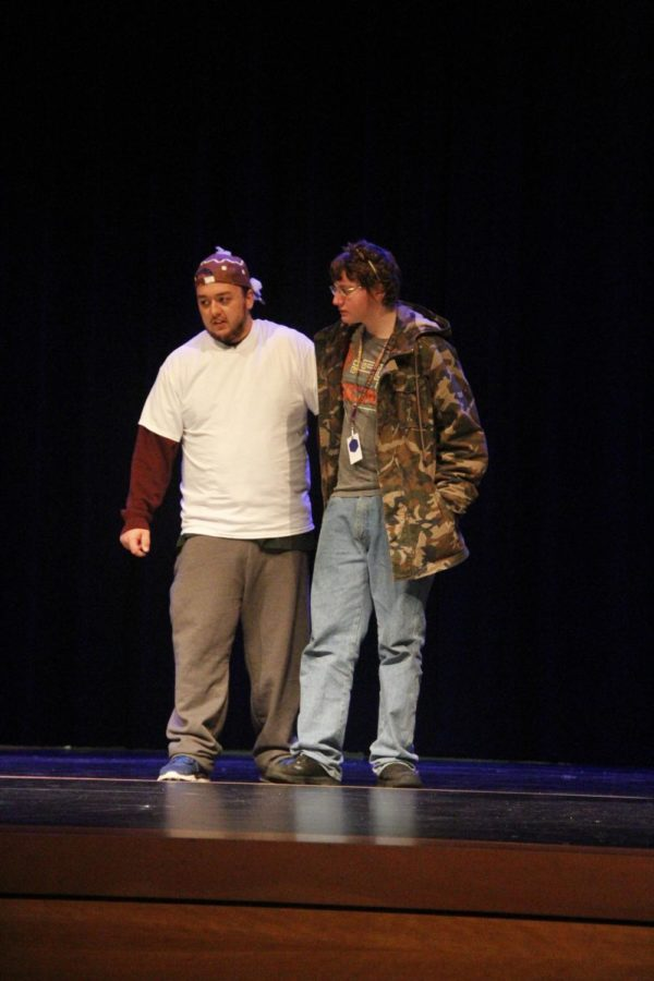 Jacob Sykes and Donovan Lemons in The Gingerbread Man.