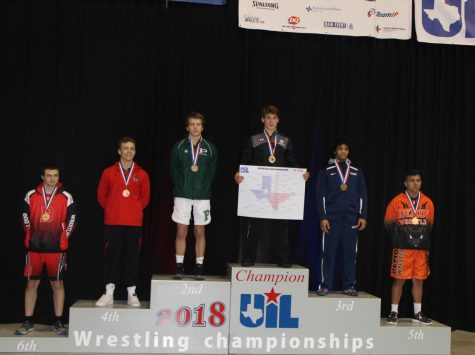 Senior Dillion Thomas won state champion for his weight class.