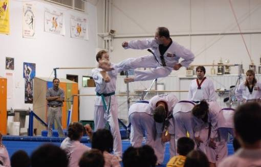 CTHS Tech Support Jeff Allen competes in a martial arts contest.