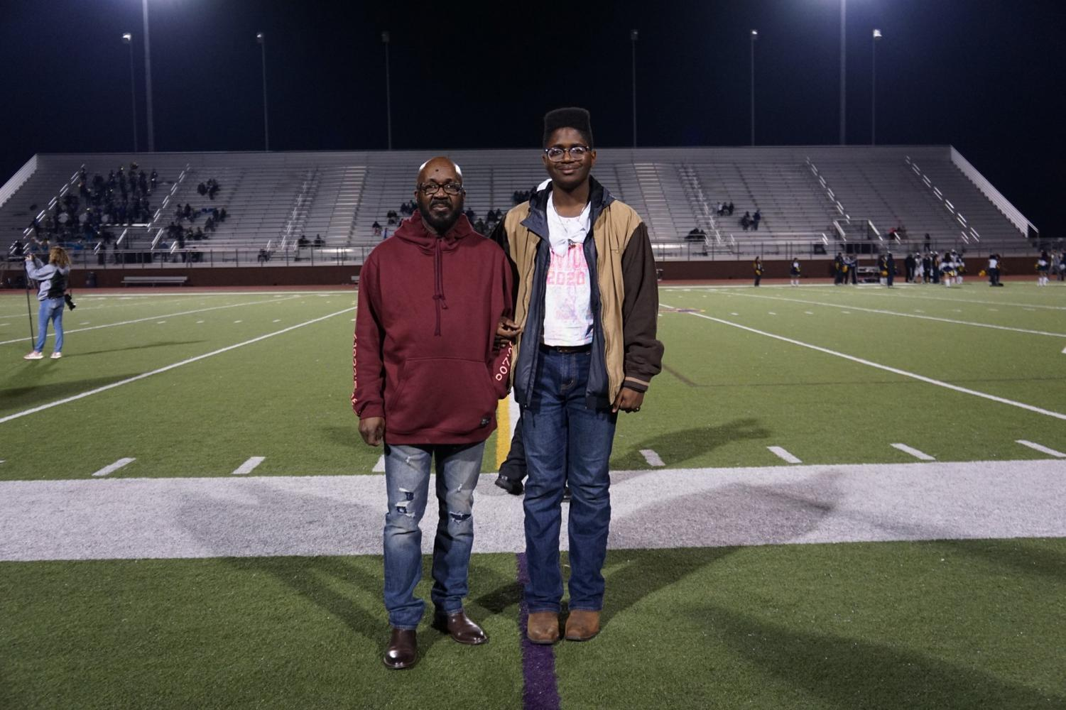 Trey with his dad, Norman Wright.