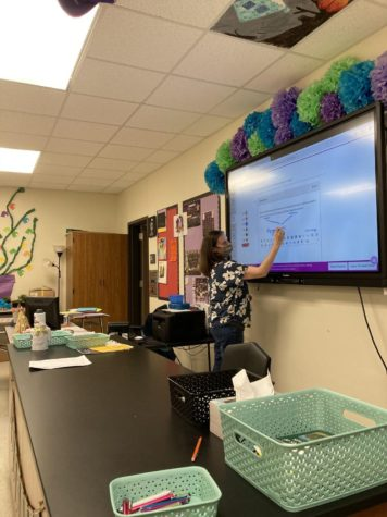 Lauren Williamson Teaching 8th period Biology.